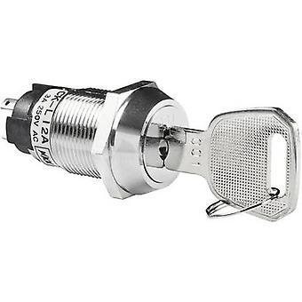 NKK Switches CKL12AFW01 Key switch 250 V AC 3 A 1 x On/On 1 x 90 ° 1 pc(s)