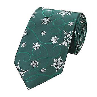 Tie tie tie tie 8cm winter snowflake green grey Fabio Farini