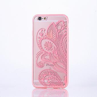 Mandala di Mobile Shell per Samsung Galaxy S7 design Custodia cover motivo copertura caso paraurti fiore rosa