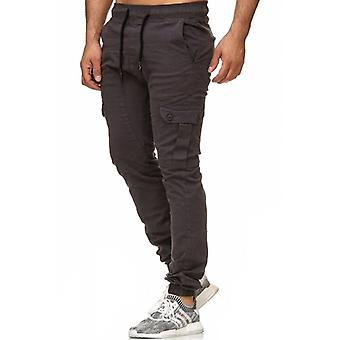 Tazzio fashion mens chinos anthracite