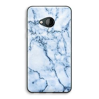 HTC U spela Transparent fodral (Soft) - blå marmor