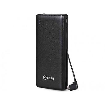 Celly Universal Power Bank Battery Backup 6600 mAh for Tablet, Samsung, iPhone,