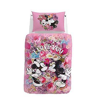 Parure Copripiumino Matrimoniale Mickey e Minnie Love Disney by Caleffi