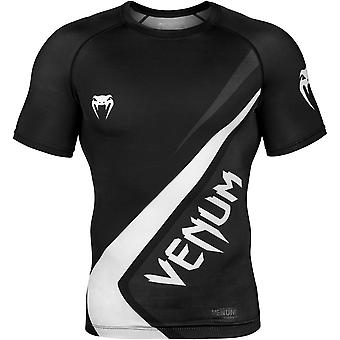 Venum Contender 4.0 Short Sleeve MMA Compression Rashguard - Black/Gray/White