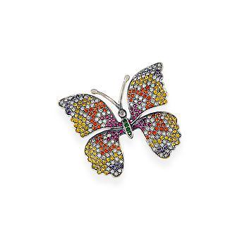 Multicolor Brosche mit Kristallen von Swarovski 7108