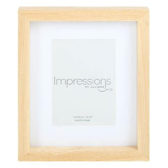 Juliana Impressions Natural Finish Photo Frame 5x7 - Light Brown