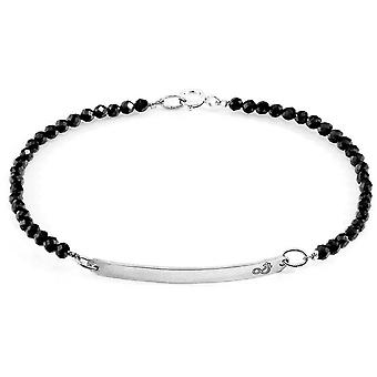 Anchor and Crew Purity Spinel Silver and Stone Bracelet - Black