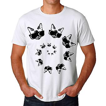Spirale chat blanc T-shirt homme