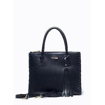 Viver フォルテ黒革製のハンドバッグ