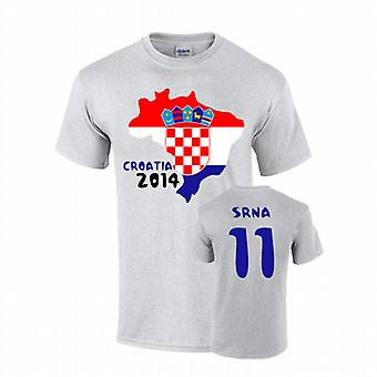 Croazia 2014 T-shirt Country Flag (Srna 11)