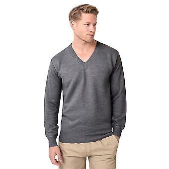 KRISP V-Neck Plain Woollen Jumper
