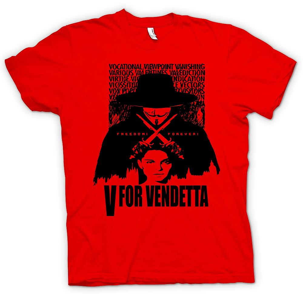 Mens T-shirt-V für Vendetta - Big-Brother - Movie