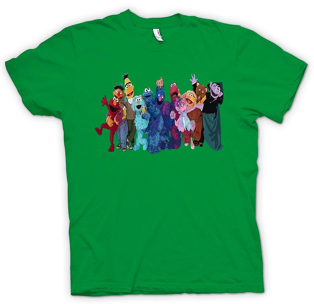 Mens T-shirt - Sesame Street Gang - série télévisée inspirée