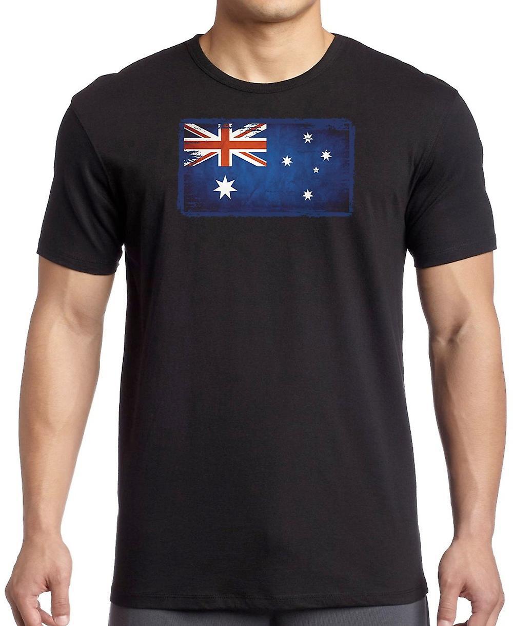 Australia Australië Grunge vlag T Shirt