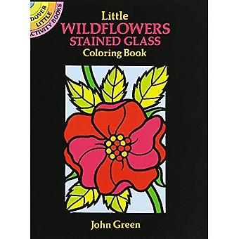 Little Wildflowers Stained Glass Colouring Book: Dover Little Activity Books