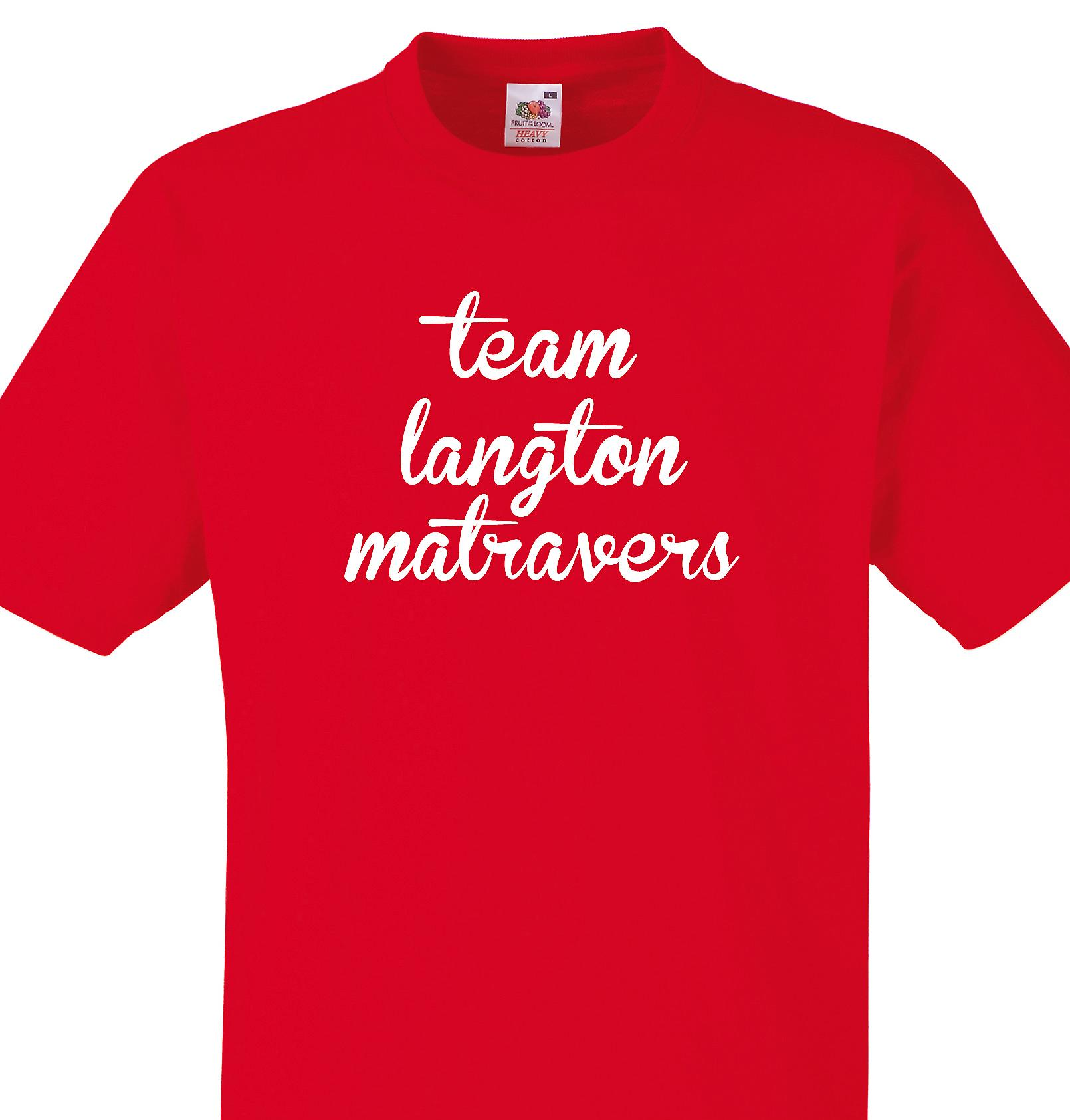 Team Langton matravers Red T shirt