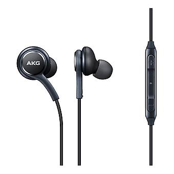 For Samsung S10 Plus - Genuine Samsung Black Earphones Tuned by AKG Handsfree In-Ear Headset (EO-IG955) by i-Tronixs