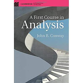 A First Course in Analysis� (Cambridge Mathematical Textbooks)