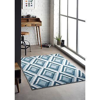 Juweel knuffel blauw rechthoek tapijten Plain/bijna gewoon tapijten