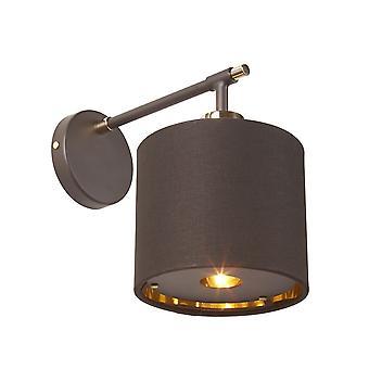 Elstead-1 lys væg lys-brun og poleret messing-BALANCE1 BRPB