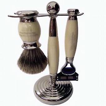 Taylor of Old Bond Street 3 Piece Gillette Fusion Set in Faux Ivory
