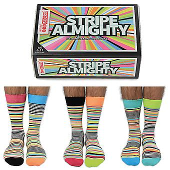 United Oddsocks Stripe Almighty Socks Gift Set