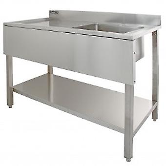 Science Lab Laboratory Sink Stainless Steel Single Bowl 1.0 Left Hand Drainer