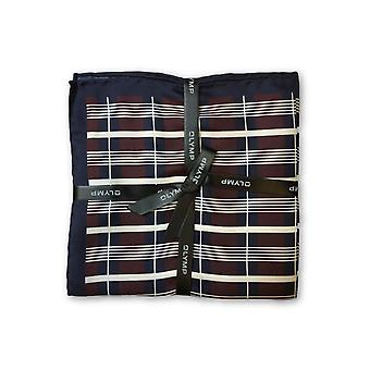 Olymp Pocket Square in wine tartan pattern