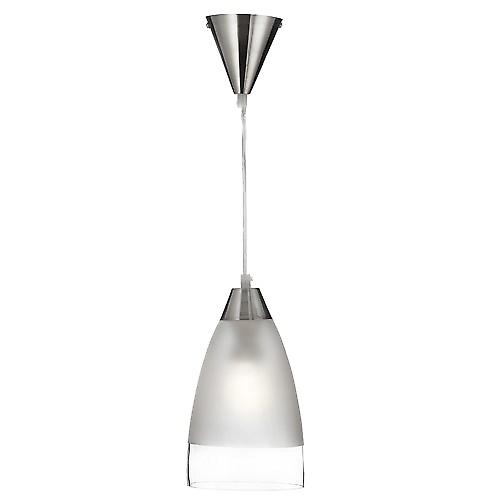Searchlight 7702 Satin Pendant Clear And Frosted Glass With Clear Cable
