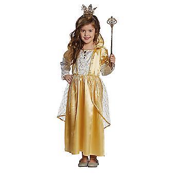 Prinses gouden prinses gouden jurk voor kinderen