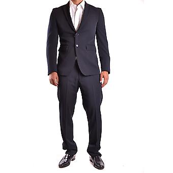 Marciano Blue Polyester Suit