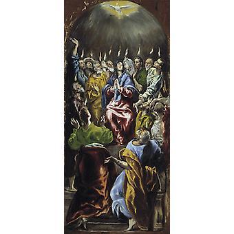 Pentecostes, El Greco, 80x36cm