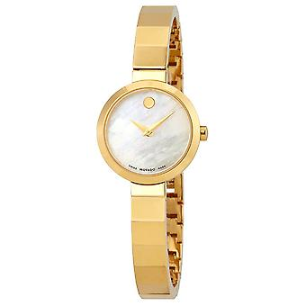 Movado Novella Gold-Tone Stainless Steel Ladies Watch 0607111