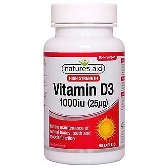 Nature's Aid Vitamine D3 1000iu (25ug) Comprimés 90