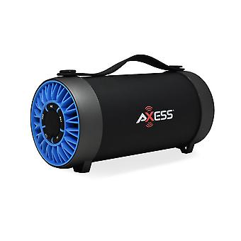 Axess Portable Bluetooth Media Speaker With 4