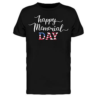 Happy Memorial Day Lettering Tee Men's -Image by Shutterstock