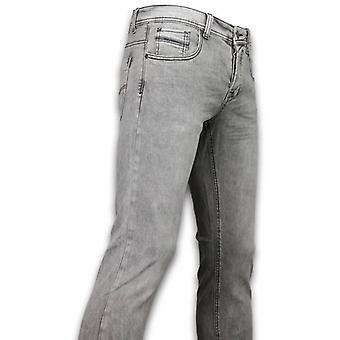 Exclusif Basic Jeans-Regular Fit Casual 5 Pocket-Light gris