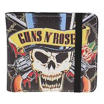 Guns N Roses Wallet Skull N Guns Band Logo nuovo nero ufficiale bifold