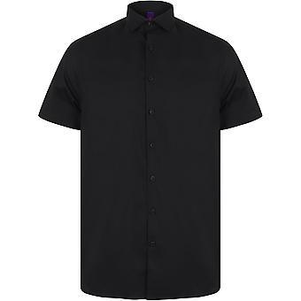 Henbury - Mens Short Sleeve Stretch Shirt