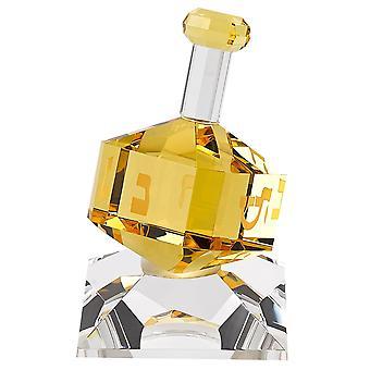 Amber dreidel on stand badash crystal h141a