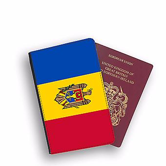 MOLDOVA Flag Passport Holder Style Case Cover Protective Wallet Flags design