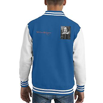 A.P.O.H William Shakespeare Black And White Portrait Kid's Varsity Jacket
