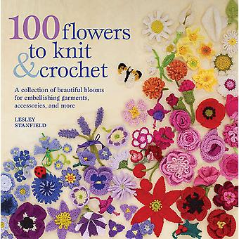 St. Martin's Books 100 Flowers To Knit & Crochet Sm 38347