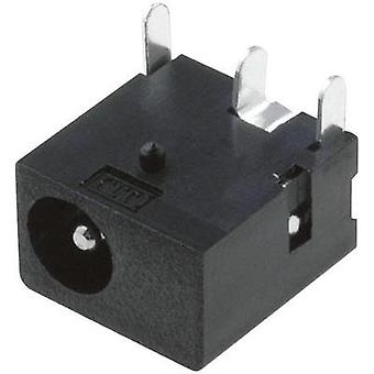 Low power connector Socket, horizontal mount 4 mm 1.3 mm