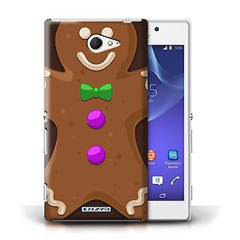 STUFF4 Case/Cover for Sony Xperia M2/Gingerbread Man/Christmas Character