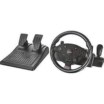 Steering wheel and pedals Trust USB PC, PlayStation® 3 Black