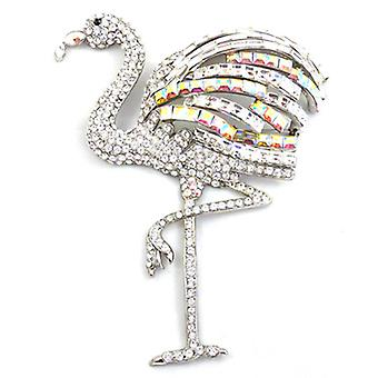 Butler  and  Wilson Large Crystal  and  AB Flamingo Brooch