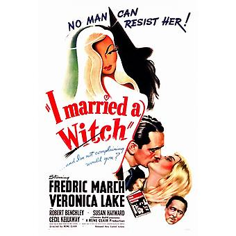 Ich heiratete eine Hexe Film Poster drucken (27 x 40)