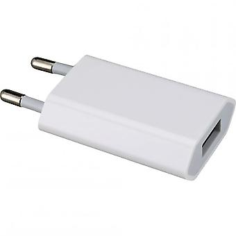 HTCOM Smartphone USB charger adapter 700mAh - white