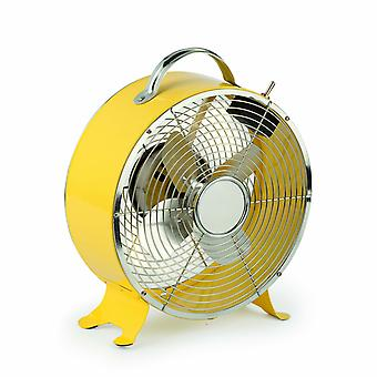 Desk Fan Triton Amarillo yellow by Faro